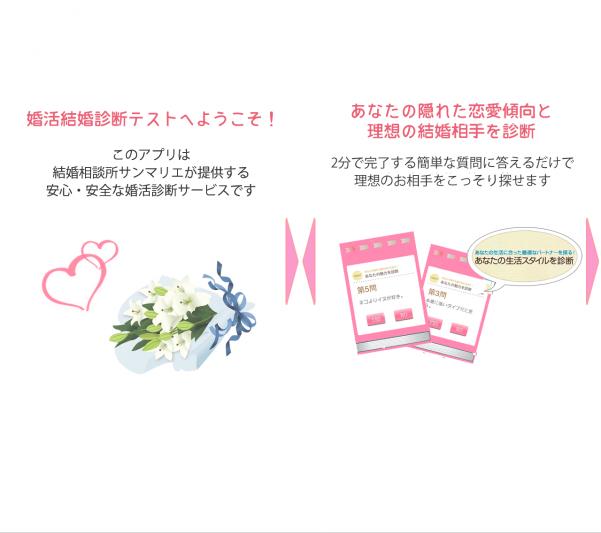 サンマリエの婚活診断アプリ